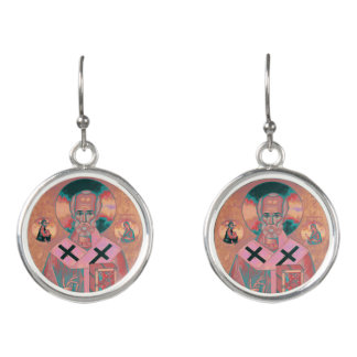 Saint Nicholas Icon Earrings