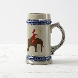 Saint Nicholas on an elephant Beer Stein