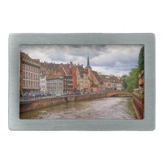 Saint-Nicolas dock in Strasbourg, France Belt Buckle