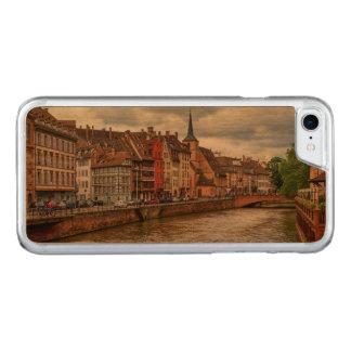 Saint-Nicolas dock in Strasbourg, France Carved iPhone 8/7 Case