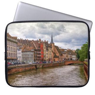 Saint-Nicolas dock in Strasbourg, France Computer Sleeves