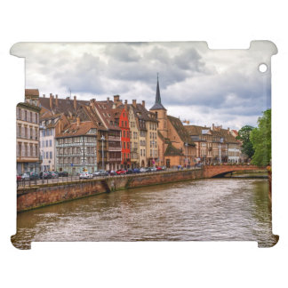 Saint-Nicolas dock in Strasbourg, France iPad Case