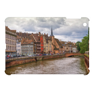 Saint-Nicolas dock in Strasbourg, France iPad Mini Covers