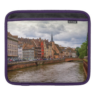 Saint-Nicolas dock in Strasbourg, France iPad Sleeve