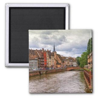 Saint-Nicolas dock in Strasbourg, France Magnet