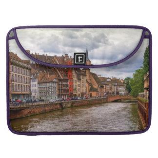 Saint-Nicolas dock in Strasbourg, France Sleeve For MacBooks