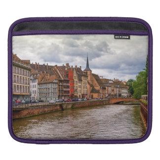 Saint-Nicolas dock in Strasbourg, France Sleeves For iPads