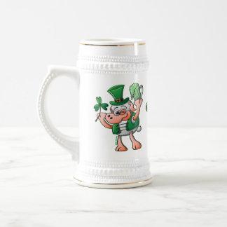 Saint Paddy's Day Sheep Drinking Beer Coffee Mugs