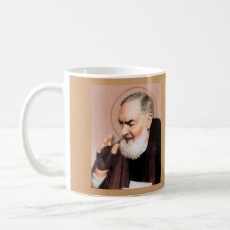 Saint Padre Pio*, Catholic Mystic Basic White Mug