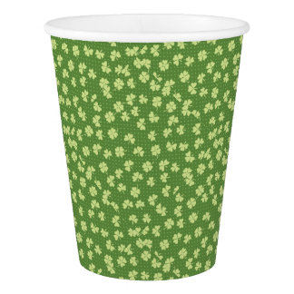 Saint Partrick's Day Shamrocks Paper Cup