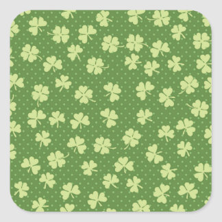 Saint Partrick's Day Shamrocks Square Sticker