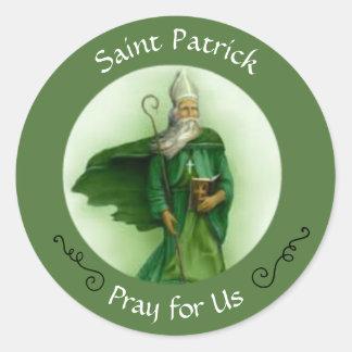 Saint Patrick Catholic Bishop Classic Round Sticker