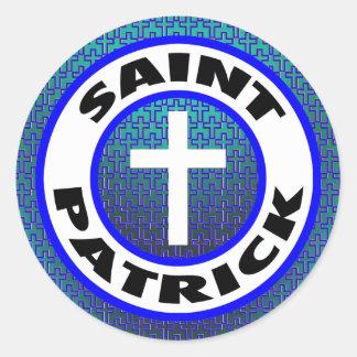 Saint Patrick Classic Round Sticker