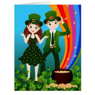 Saint Patrick Day Kids Party Card