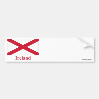 Saint Patrick Flag with Name Bumper Stickers