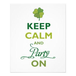 SAINT PATRICK Keep Calm And Party Like An Irish Flyer