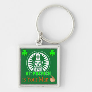 Saint Patrick keychain