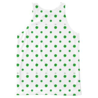 Saint Patrick Motif Pattern All-Over Print Singlet