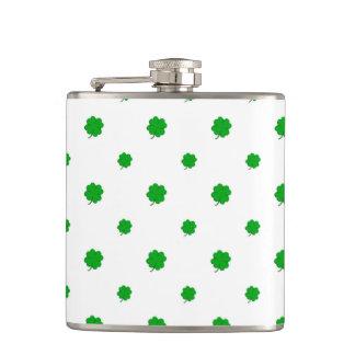 Saint Patrick Motif Pattern Hip Flask