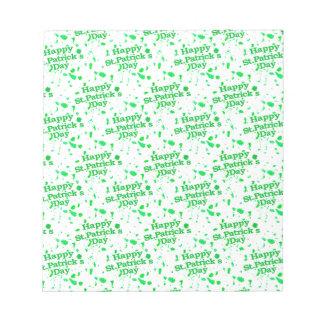Saint Patrick Motif Pattern Notepad