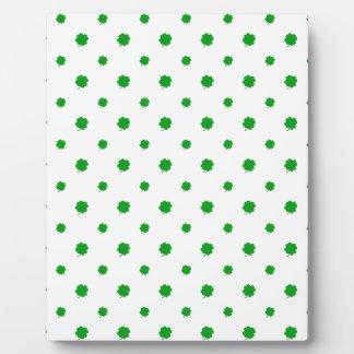 Saint Patrick Motif Pattern Plaque