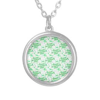 Saint Patrick Motif Pattern Silver Plated Necklace