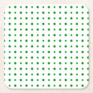 Saint Patrick Motif Pattern Square Paper Coaster