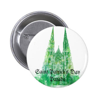 Saint Patrick s Cathedral New York Pinback Button