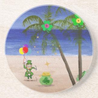 Saint Patrick s Day at the Beach jpg Drink Coasters