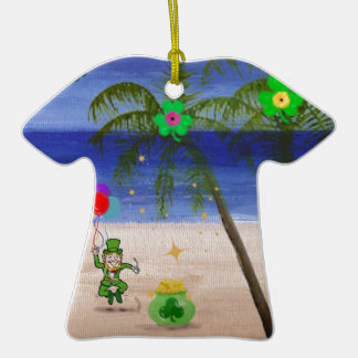 Saint Patrick s Day at the Beach jpg Ornament
