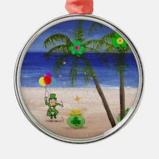 Saint Patrick s Day at the Beach jpg Christmas Ornaments