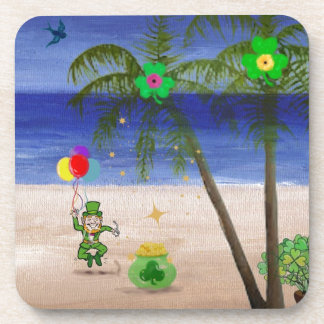 Saint Patrick s Day at the Beach jpg Drink Coaster