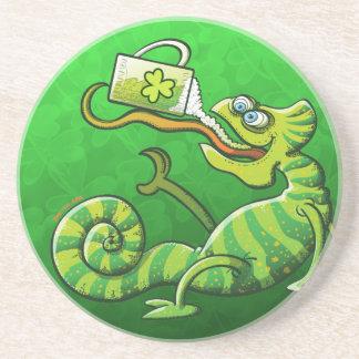 Saint Patrick s Day Chameleon Drink Coasters
