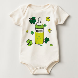 Saint Patrick`s Day Cheers! Baby Bodysuit