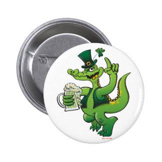 Saint Patrick s Day Crocodile Drinking Beer Pins