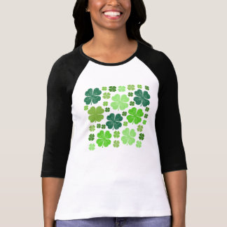 Saint Patrick s Day Four Leaf Clovers - Green Shirt