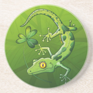 Saint Patrick s Day Gecko Beverage Coasters