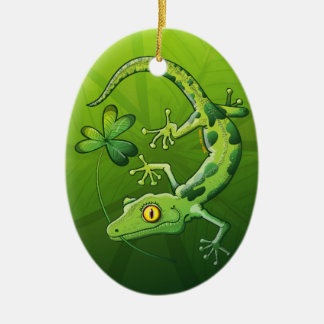 Saint Patrick s Day Gecko Christmas Ornaments