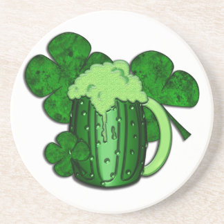 Saint Patrick s Day Green Beer Drink Coaster