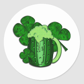 Saint Patrick s Day Green Beer Stickers
