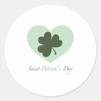 Saint Patrick s Day Heart Stickers