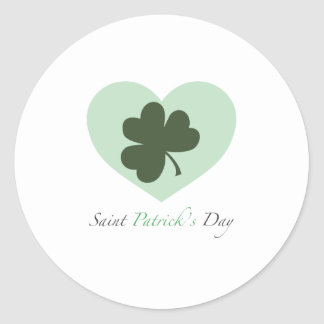 Saint Patrick s Day Heart Stickers