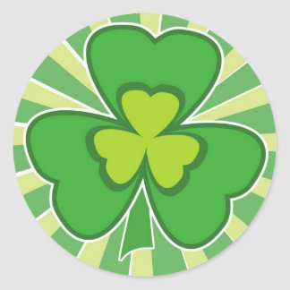 saint patrick s day round sticker