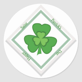 saint patrick s day round sticker