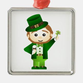 Saint Patrick' S Day Silver-Colored Square Decoration