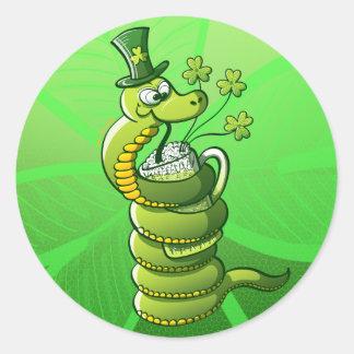 Saint Patrick s Day Snake Sticker