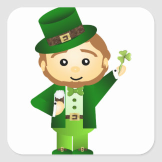 Saint Patrick s Day Square Stickers