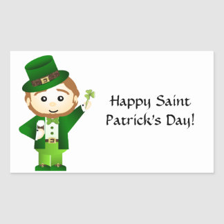 Saint Patrick' S Day Rectangular Sticker
