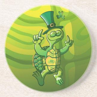 Saint Patrick s Day Turtle Beverage Coasters