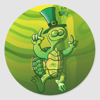 Saint Patrick s Day Turtle Stickers